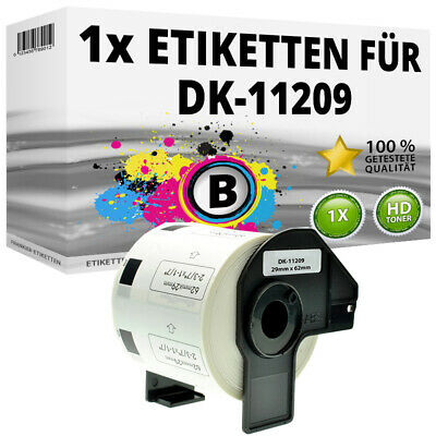 1x Etiketten für Brother P-Touch QL-1050N 1060N 500A 550 570 650TD 700 710W 720