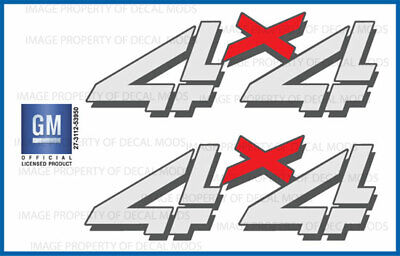 set of 2: 1999 <--> 2006 Chevy Silverado 4x4 decals - F - bed side 1500 2500 HD