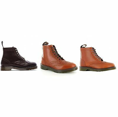 Dr.Martens Affleck 7 Eyelets Leather Brogue Mens Ankle Boots