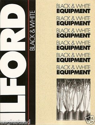 Equipment Brochure - Ilford - B&W Paper Processor Dryer Chemicals c1990 (CB122)