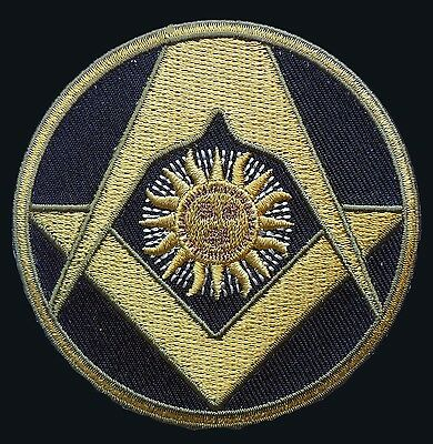 Masonic Square Compass Sun Emroidered Iron On Patch