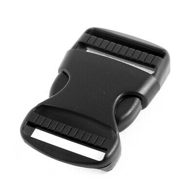 Luggage Bag Side Release Buckles Black 3.7cm Webbing Strap