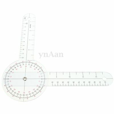 Physio Clear Plastic Goniometer Angle Ruler Joint Bend Measure Measuring 320mm
