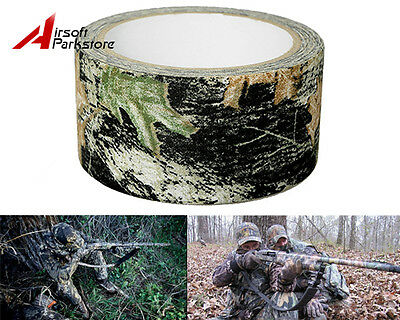 5CMx10M Camouflage Stealth Duct Tape Hunting Military Rifle Wrap Deadwood Camo