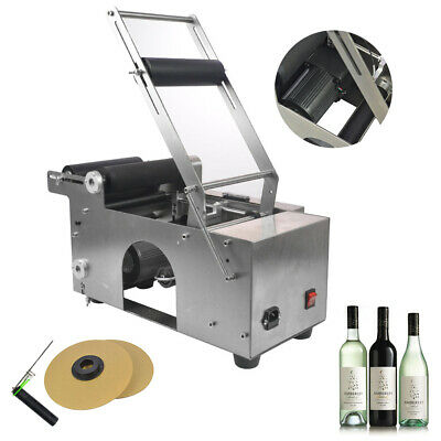 Top Round Bottle  Labeling Machin Semi-Automatic Labeler Coding Mt-50 110V Us