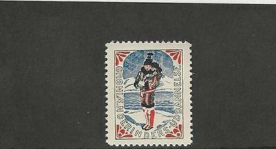 Greenland, Postage Stamp, Early Mint NH Label