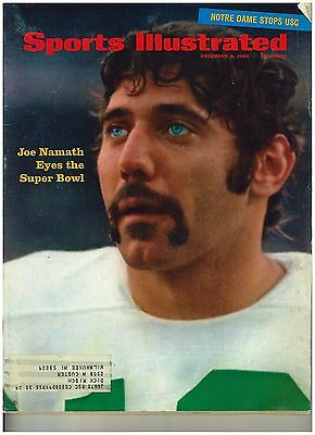 December 9, 1968 issue of Sports Illustrated Joe Namath New York Jets Cover