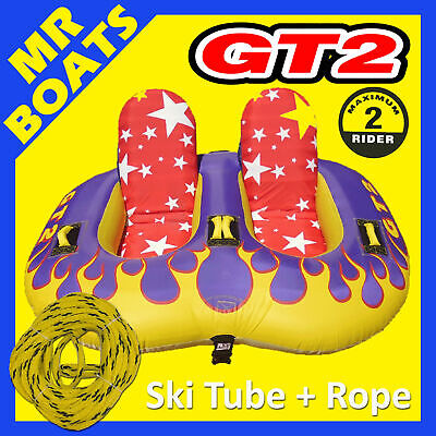 "SKI TUBE COMFORTABLE SIT-IN 2 Person + ROPE  GT2  Biscuit  X-Large 80"" / 203cm"