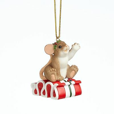 Charming Tails Mouse One Sweet Ride 4041173 Christmas NEW Ornament 2014
