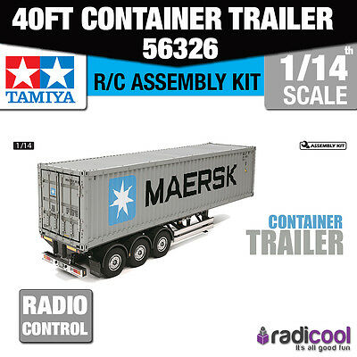 56326 Tamiya 40ft Container Semi-Trailer 1/14th R/C Radio Control Assembly Model