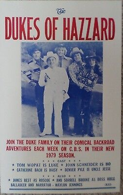 The Dukes of Hazzard Television Show Poster Print