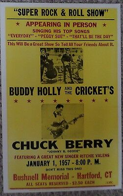 Buddy Holly and The Crickets with Chuck Berry Super Rock & Roll Show Poster