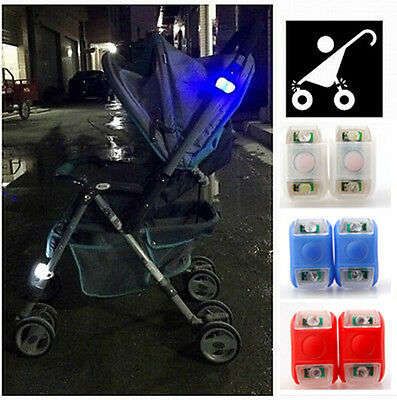 Silicone Lamp Stroller Caution Pram Light Outside Alarm for Babys' Safety Night