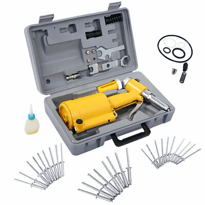 Goplus Pneumatic Air Hydraulic Pop Rivet Gun Riveter Riveting Tool w/ Case New