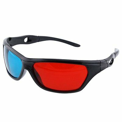 3D-BRILLE CYAN ANAGLYPH ROT BLAU Brillen Anaglyph Glasses Kino REAL
