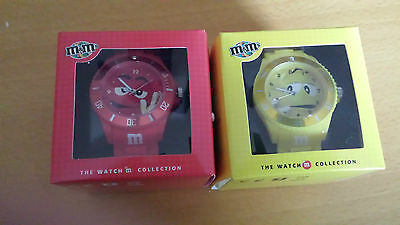 M&M's Armbanduhren Red & Yellow