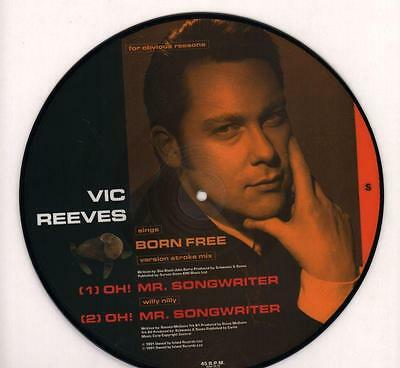 """Vic Reeves(Picture Disc 10"""" Vinyl)Born Free-Island-SIGH 10 10-UK-1991--Ex/NM"""