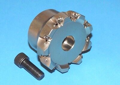 """NEW SECO 2.50"""" SQUARE 6 Indexable Face Mill Coolant Fed (R220.96-02.50-04-9A)"""