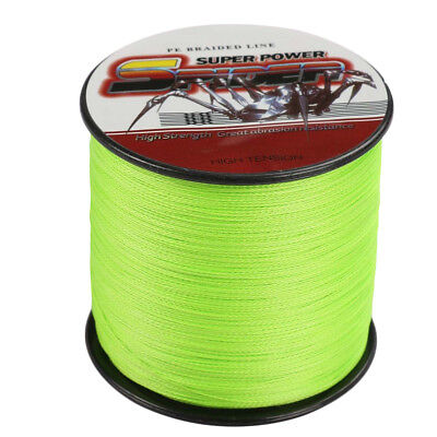 Spider 100M-500M 6LB-300LB Fluorescent Green 100%PE Dyneema Braided Fishing Line