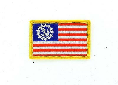 Patch patches flag embroidered iron on backpack yacht ensign usa united states