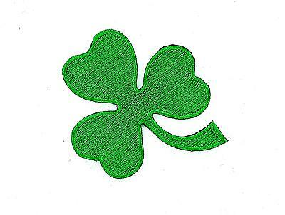 Patch patches embroidered iron on biker lucky green irish clover shamrock