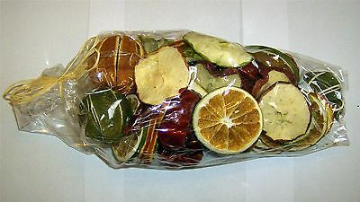 Mixed Decorative Dried Fruit - 250g Gift Bag - Oranges - Chillies - Apples
