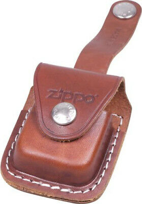 Orig. Zippo Brown Leather Pouch Holder Bag Case With Belt Loop ** New In Box **