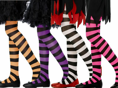 Girls Tights Stripe Ages 6 to 12 Years Fance Dress School Clothing