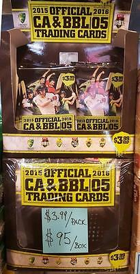 2015-16 TapnPlay Official ACB BBL Cricket Sealed box of 26 packs of cards.