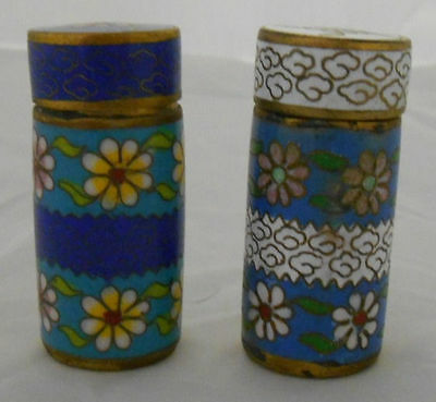lot of 2 Beautiful Vintage Pill Bottles