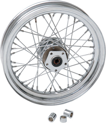 "Drag Specialties Replacement Laced Front Wheel 16""x3"" Chrome 40 Spoke 64342N"