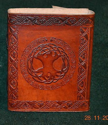 Leather Bound Tree Of Life Book Of Shadows / Wiccan / Pagan