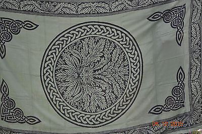 72 X 108 Green Man Tapestry / Wiccan / Pagan