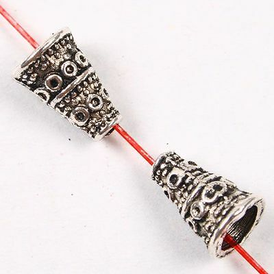 50 pcs Tibetan Silver Bali Funnel Spacer Beads Finding Fashion Jewellery Gift