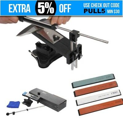 Professional Fix-Angle Knife Sharpener Edge Sharpening 2nd Gen with Stones