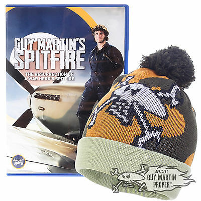 Guy Martin's Spitfire DVD & Exclusive Ltd Edition Merlin Bobble Hat Beanie