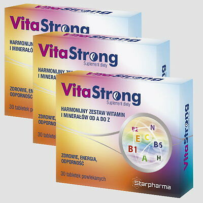 3x VITASTRONG 90 Tage Packung Vitamin A-Z Mineralien -zink calcium Multiformula