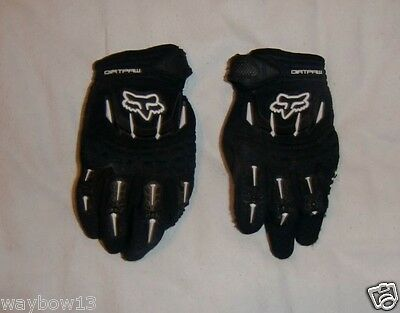 FOX RACING: DIRTPAW MX,DIRTBIKE GLOVES[kids LARGE] AS SHOWN [FREE SHIP