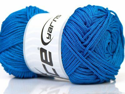 Lot of 4 x 100gr Skeins ICE MACRAME CORD Knitting Wool Blue