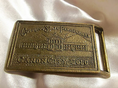 Vintage  Canon City Colorado State Penitentiary Belt Buckle