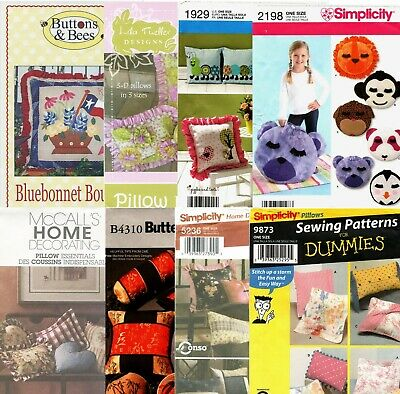 Pillow Pillows Uncut Sewing Pattern ~ Many Styles To Choose From