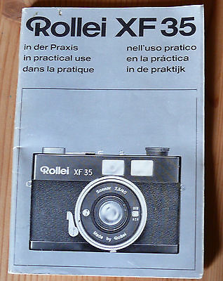 Rollei XF 35 Anleitung Instructions - 90 Seiten in 6 languages (BX61)