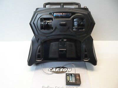 New Carson 2.4ghz Reflex Stick Pro 3 R/C Car Radio Transmitter & Receiver System