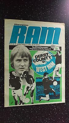Derby County V West Ham United 1976-77