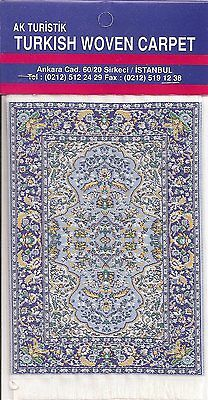 Imported Turkish Woven Miniature Carpet - Blue & Yellow