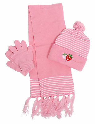 Cute Winter Knit Scarf Hat and Gloves Set for Boy / Girl Several Styles