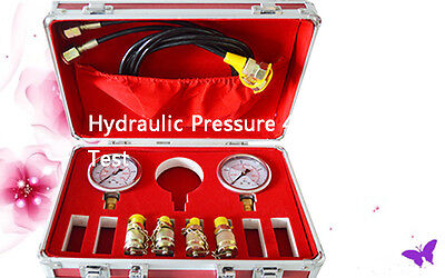 New Excavator Hydraulic Pressure Test Kit,Hydraulic Tester 4 Test Point Coupling