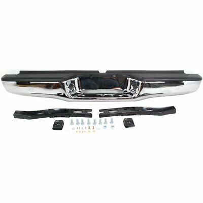 2283598113 TO1102215 Rear New Step Bumper Face Bar Chrome Styleside for Tacoma