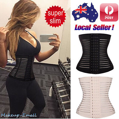 Slimming Waist Training Cincher Body Shaper Corset Tummy Trainer Belly Wrap Band