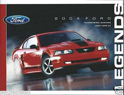 Auto Brochure - Ford - Thunderbird Mustang 2004 - Ford GT 2005 (AB684)